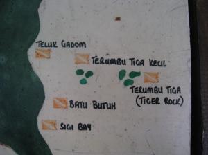 Tiger Rock på Besars östkust