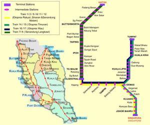 Tågkarta över KTM