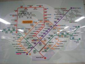 Karta över tunnelbanenätet