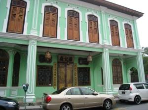 Fasaden som vette mot Lebuh Gereja