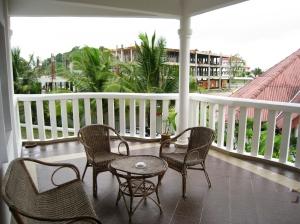 Utsikt från vår delade balkong