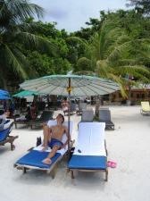 Våra solstolar med parasoll