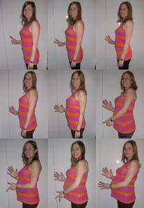 Nio månaders förändring under graviditeten