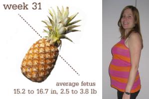 Stor som en ananas i vecka 31